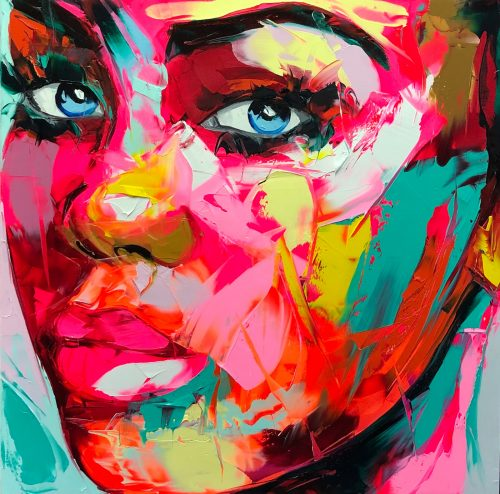 Nielly Francoise – Acrylic on Canvas Painting – Faces 005