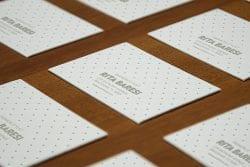Asset   Letterpress Business Cards Perspective MockUp