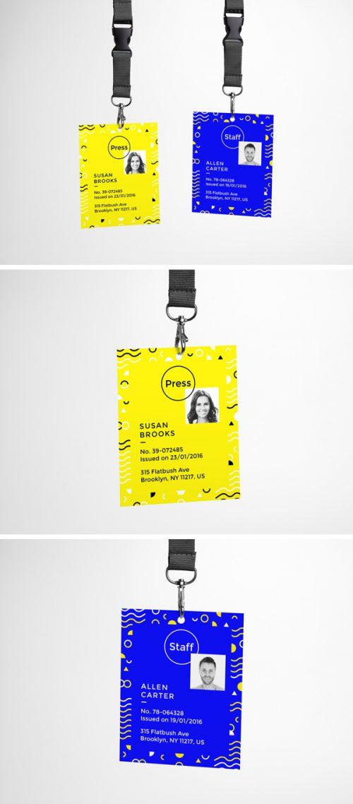 Asset | ID Card PSD MockUp
