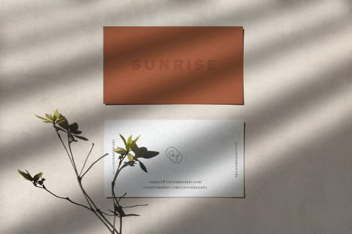 SUNRISE – Letterpress Cards Mockup ~ Branding Mockups ~ Creative Market