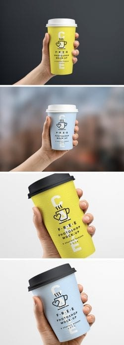 Asset | Coffee Cup In Hand MockUp