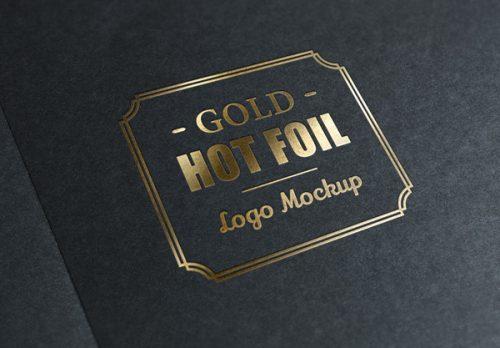 Asset | Gold Stamping Logo MockUp