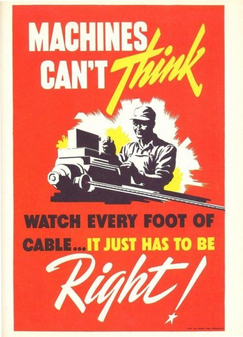 Industrial Vintage Minimal Propaganda Poster