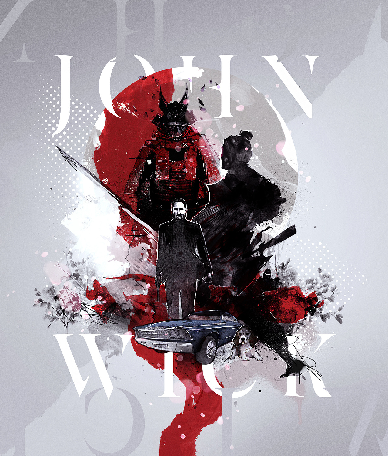John Wick: Ronin – Reimagined Movie Posters / Graphic Novel Illustrations