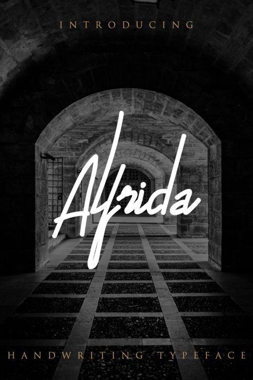 Assets | Alfrida Signature Font