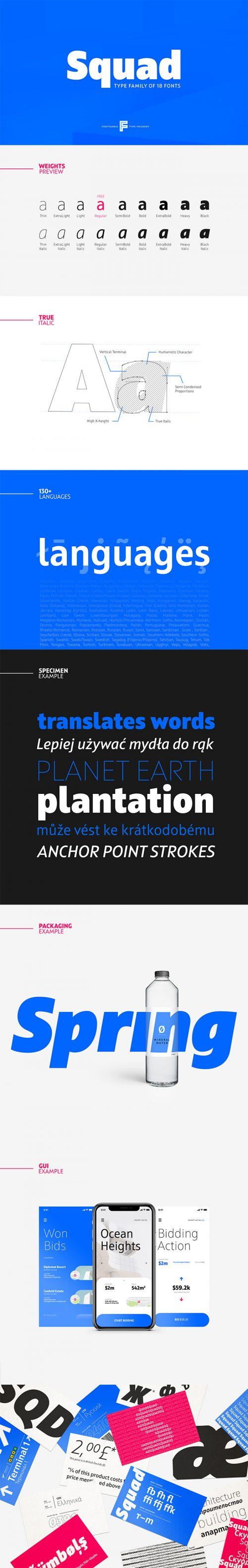Asset   Squad Font Typeface