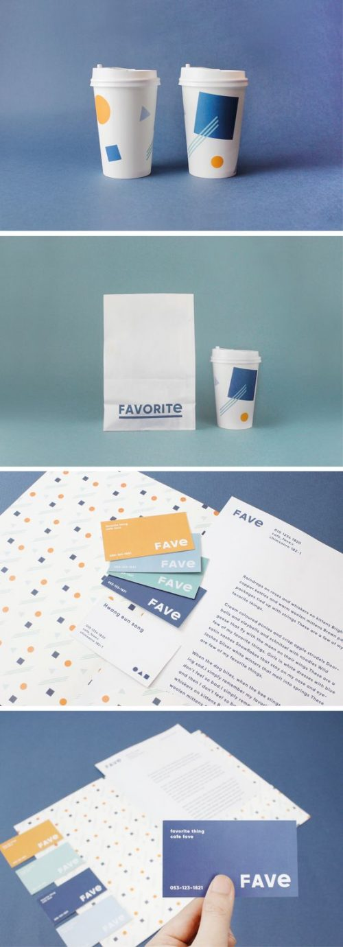 identity design and art direction for cafe fave