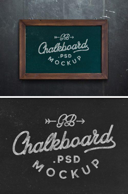 Asset | Chalkboard MockUp PSD