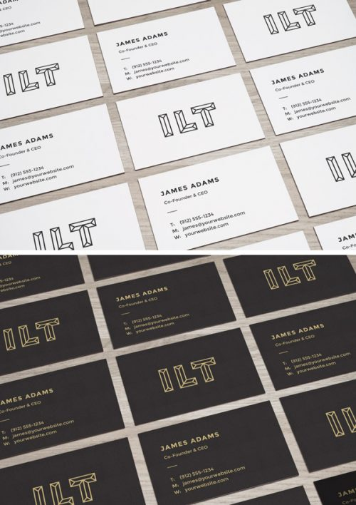 Asset | Perspective Business Cards MockUp