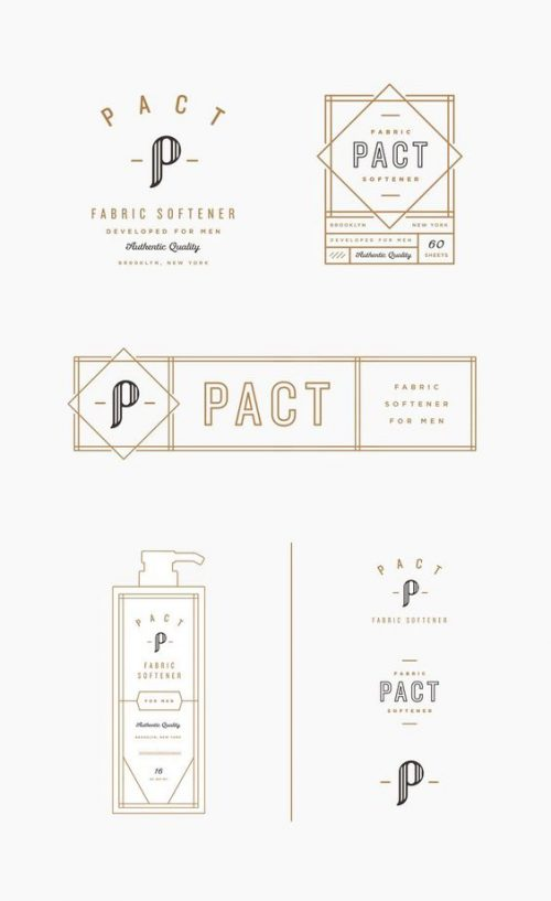 Pact Fabric Softener Branding Design Exploration