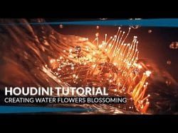 Creating water flower blossoming inside Houdini