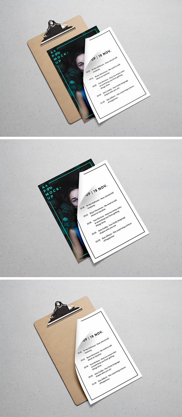 Asset   A4 Paper PSD MockUp #3