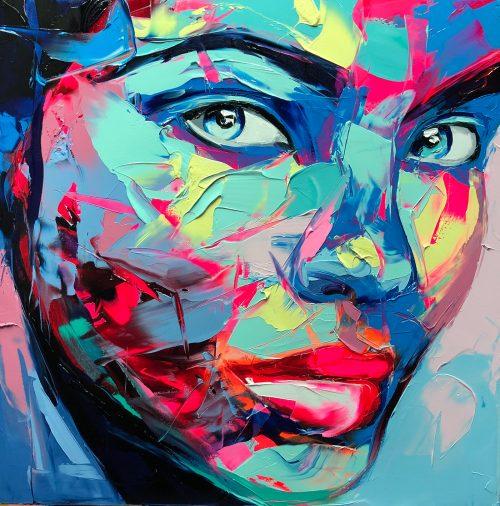 Nielly Francoise – Acrylic on Canvas Painting – Faces 018