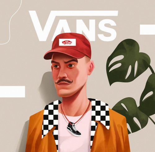 Illustration – Leo Natsume – Vans Faces 003