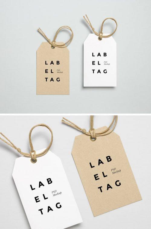 Asset | Label Tag PSD MockUp #2