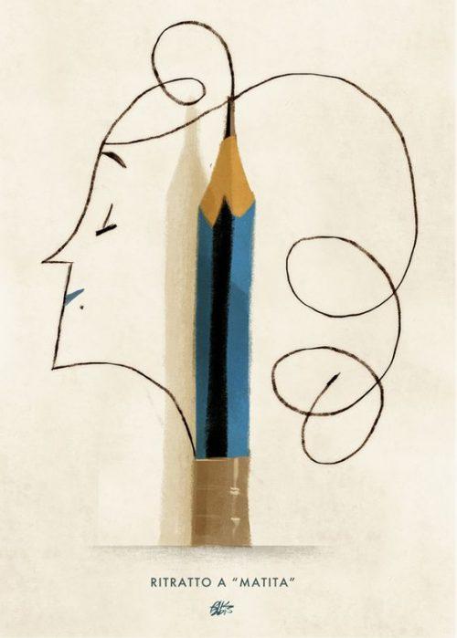"""""""Ritratto a matita"""" – """"Pencil portrait"""" – Riccardo Guasco 2015"""