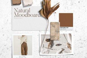 Natural Mood board Mockup PSD