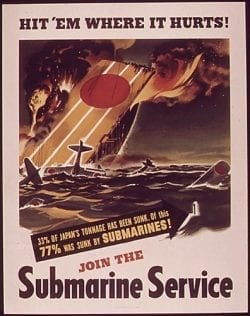 Join the Submarine Service – Hit them where it hurts – Propaganda Poster