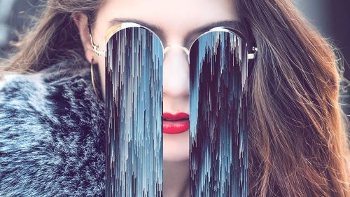 Pixel Sorting Glitch Effect Sunglasses