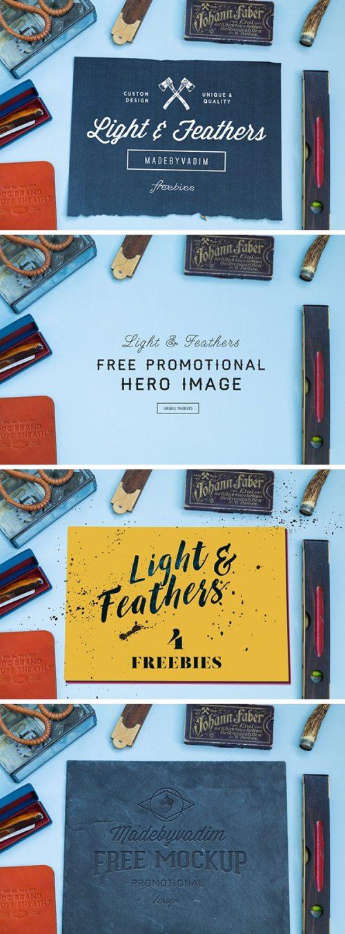 Asset | Light & Feather: 4 Free MockUps