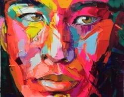 Nielly Francoise – Acrylic on Canvas Painting – Faces 015