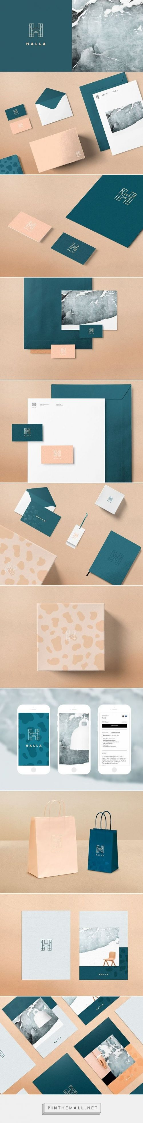 Halla Fashion and Furniture Shop Branding by Tiia Vahla | Fivestar Branding Agency – Design and  ...