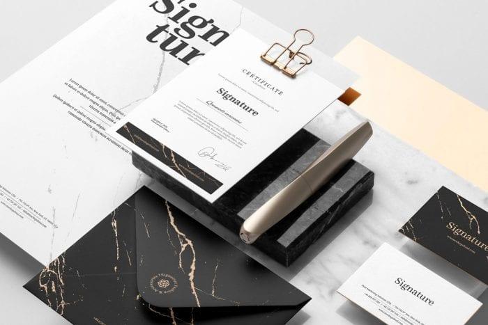 Signature Branding Mockup Vol  1 ~ Branding Mockups