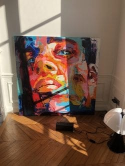 Nielly Francoise – Acrylic on Canvas Painting – Faces 020