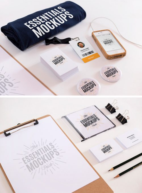 Asset | Essentials Mockups Free Set