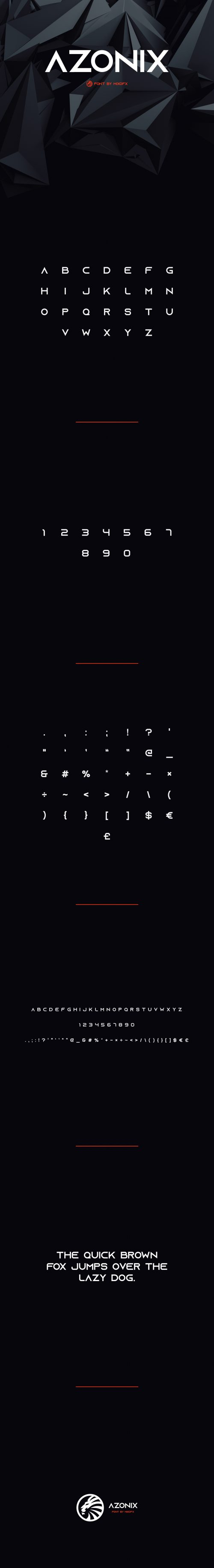 Asset | Azonix Free Modern Font Typeface