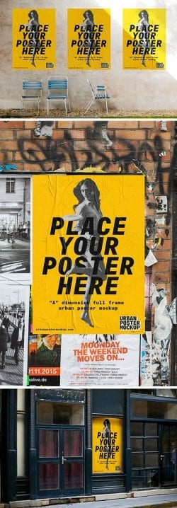 Asset | 3 Urban Poster MockUps