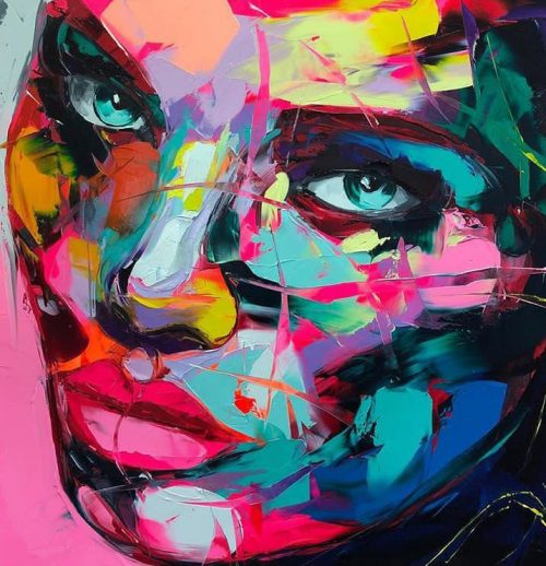 Nielly Francoise – Acrylic on Canvas Painting – Faces 012