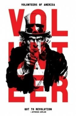American Propaganda Poster – Volunteer featuring Uncle Sam