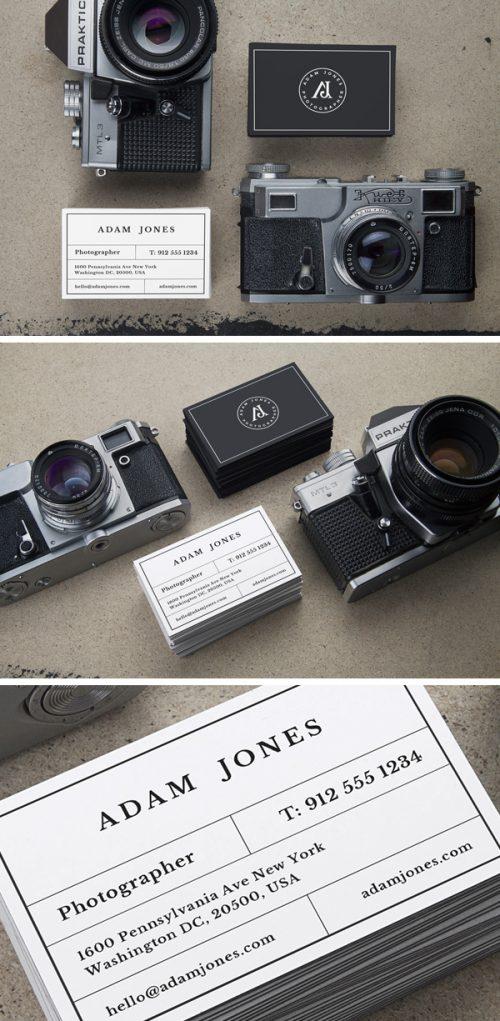 Asset | Vintage Cameras & B-Cards MockUp