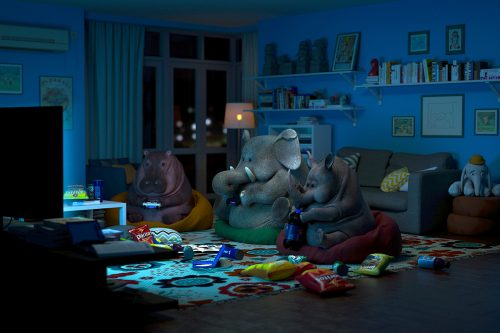 3D – Lazy Things and Animals- Guodong Zhao 001