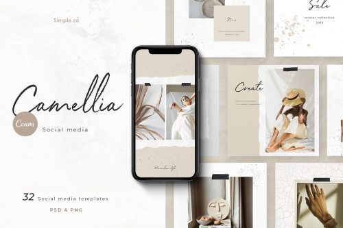 CANVA & PS / Camellia – social media ~ Instagram Templates ~ Creative Market