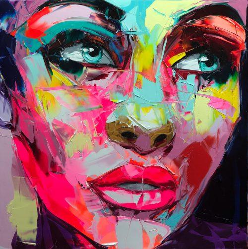 Nielly Francoise – Acrylic on Canvas Painting – Faces 009