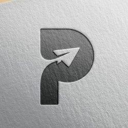 Minimal Paper Plane Logo Design