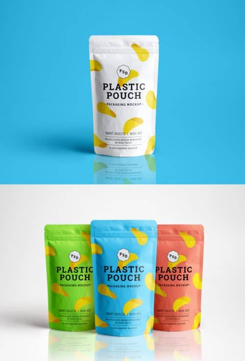 Asset | Plastic Pouch Packaging MockUp