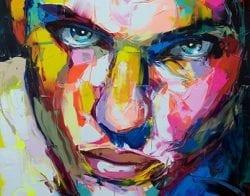 Nielly Francoise – Acrylic on Canvas Painting – Faces 013