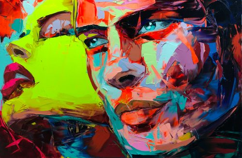 Nielly Francoise – Acrylic on Canvas Painting – Faces 002