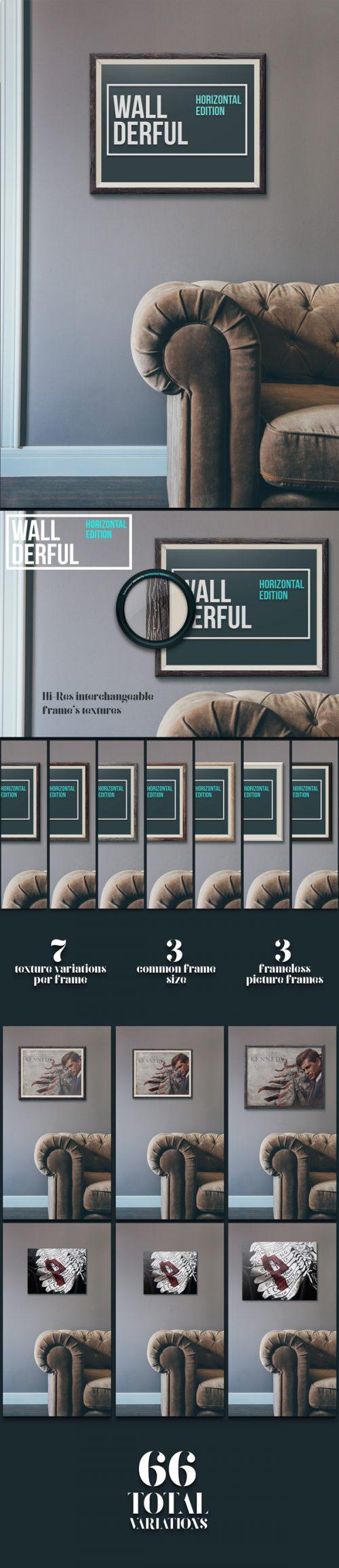 Asset | Wallderful: Horizontal Frames MockUps