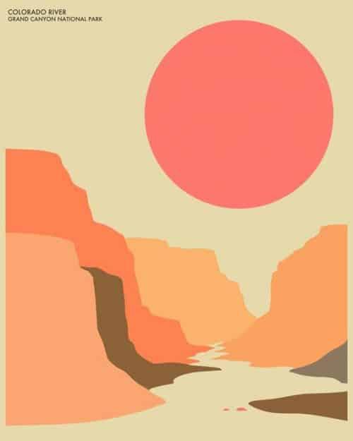 Grand Canyon National Park Art Flyer