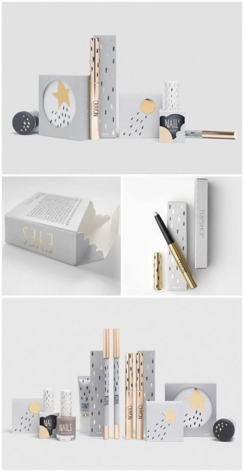 The neutral colours of this package design leave all the starlight to the make up products! @Ala ...
