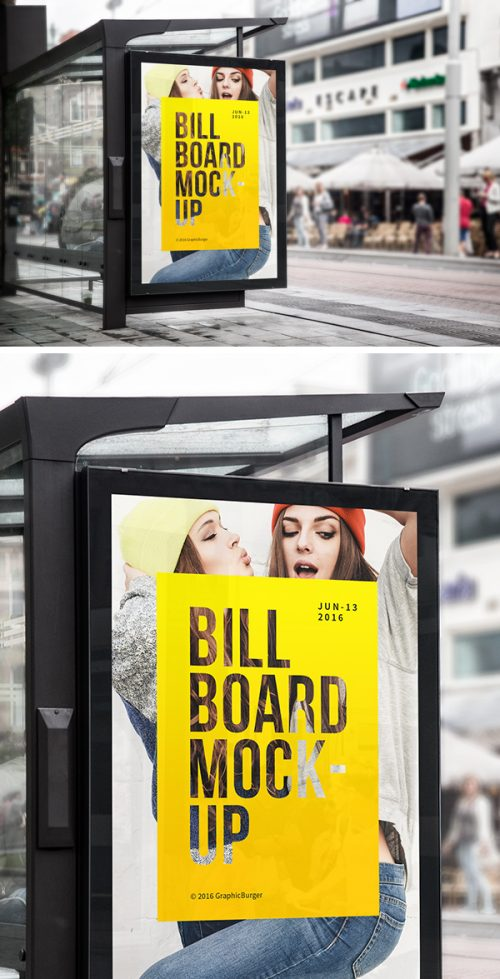 Asset | Bus Stop Billboard MockUp