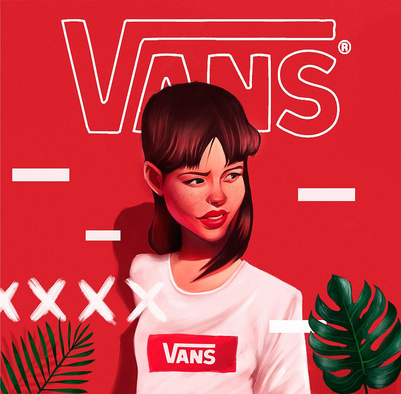 Illustration – Leo Natsume – Vans Faces 002