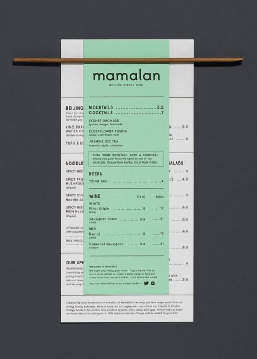 Mamalan Menu Design by Midday