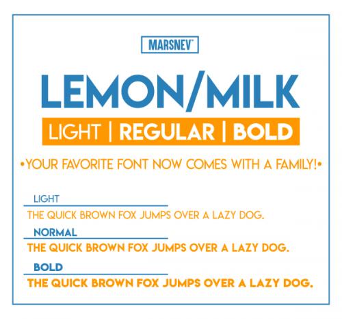 Asset | Lemon/Milk Font Typeface