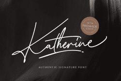 Asset   Katherine Font Typeface