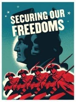 Vintage Style American Revolution Propaganda Poster